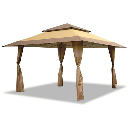 (Open Box)Z-Shade 13 x 13 Foot Instant Gazebo Canopy Tent Outdoor Patio Shelter, Tan Brown