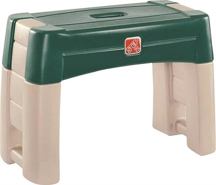 (Open Box) Step2 534900 2-In-1 Cushioned Garden Kneeler, 10-3/4 in L X 21-3/4 in W X 16-1/4 in H, 250 lb