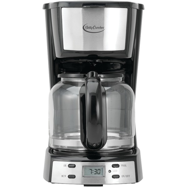 (Open Box) Betty Crocker BC-2809CB 12-Cup Stainless Steel Coffee Maker