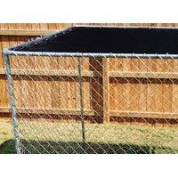 (Open Box) spsfence DKTB11010 Sun Block Kennel Top With Reinforced Grommets, 10 ft Length X 10 ft Width