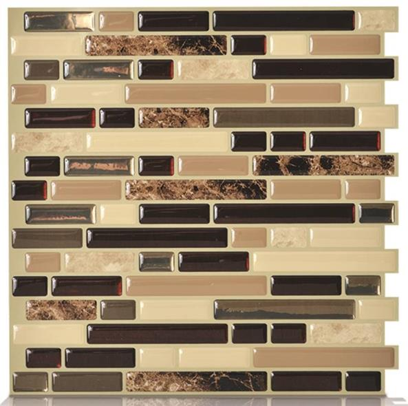 (Open Box) Quinco SM1034-6 Wall Tile, 10.2 in L x 9.1 in W x 3/4 in T, Keystone