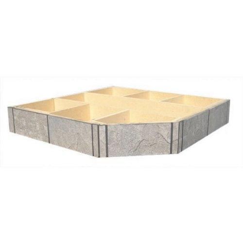 "Riser For Volcanic Sand 48"" X 48"" Single Cut Corner Stove Board, 6"" High"