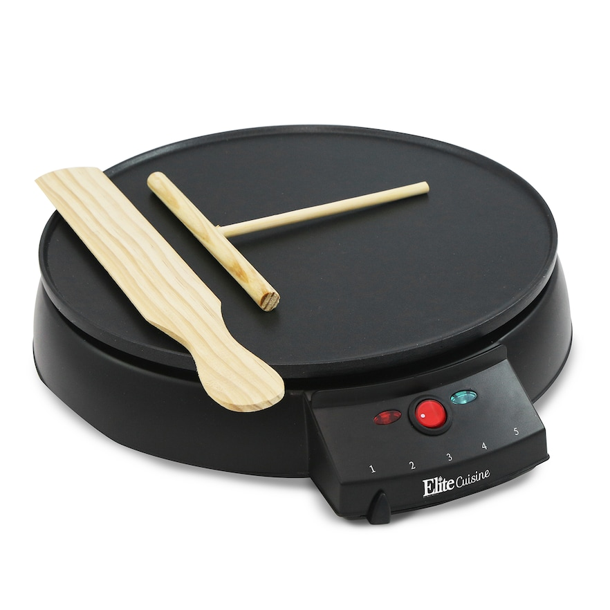 ELITE CUISINE ECP-126 12INCH CREPE MAKER AND GRIDDLE NONSTICK