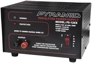 (Open Box) POWER SUPPLY PYRAMID 13.8 VOLT10 AMP