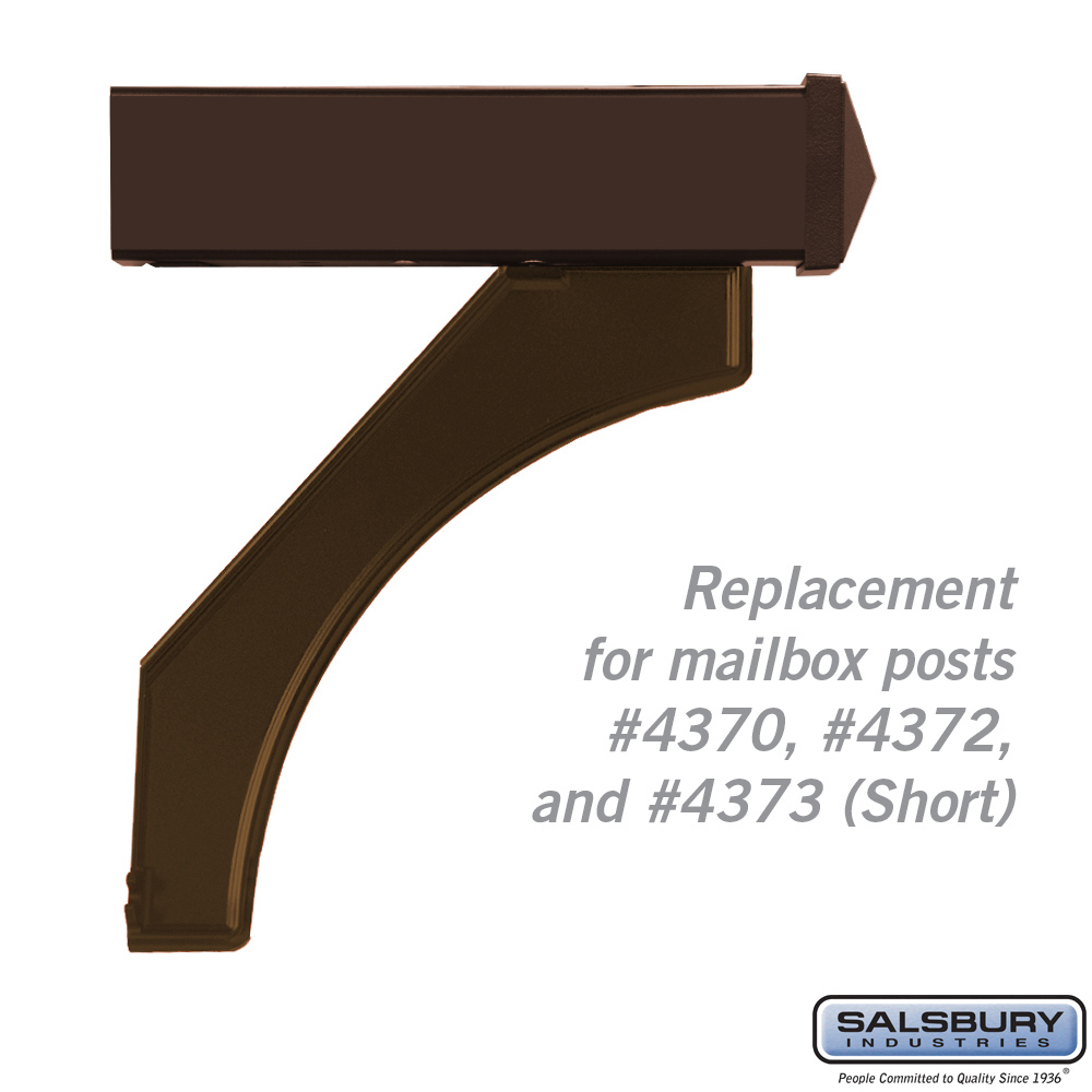 (Open Box) Arm Kit - Replacement for Deluxe Post for Designer Roadside Mailbox - Bronze