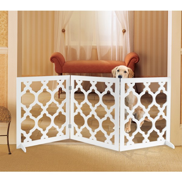 PET PARADE JB8119 DECORATIVE PET GATE FOR OUTDOOR AND INDOOR