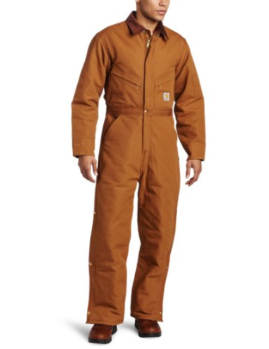 (Open Box)Carhartt� 34 Regular Brown Quilt Lined 12 Ounce Cotton Duck Coverall