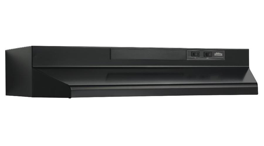 01733023 30N Black 4 Way Conventional Range Hood