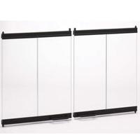 FMI BDB42 Comfort Flame Extruded Bi-Fold Door, For Use With FMI Bungalow, Aluminum/Glass, Brushed Brass, Black