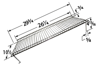 Chrome steel wire warming rack for Charbroil, Kenmore, Thermos brand gas grills
