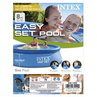 Easy Set 28110EH Swimming Pool, 639 gal Capacity, 8 ft Dia 30 in H, Plastic