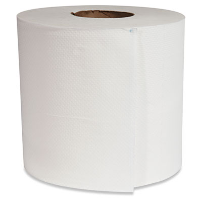 """Center-Pull Roll Towels, 7 1/2 dia., 12"""" x 600 ft, White, 6 Rolls/Carton"""