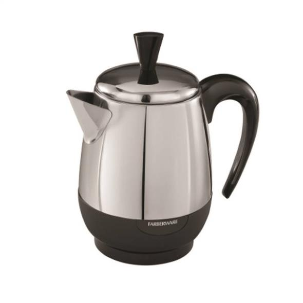 APPLICA CONSUMER PRODUCTS Fcp240 Percolator, 1000 W, Stainless Steel