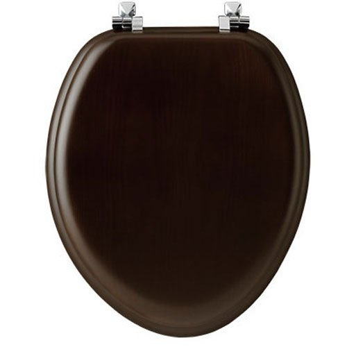 Mayfair 19601CP888 Toilet Seat, For Use With Elongated Bowls, Molded Wood, Walnut