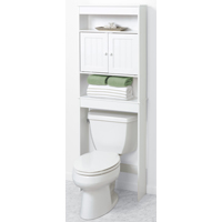 Zenith 9119W Country Cottage Spacesaver Bathroom Cabinet, 23-1/4 in W X 7-1/2 in D X 66-1/2 in H