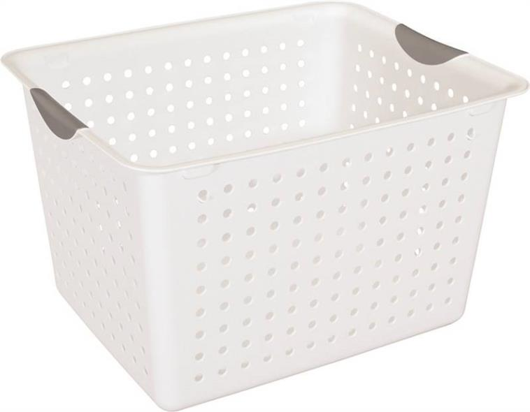 Deep Ultra 1628 Storage Basket, 10 in H x 13-1/8 in W x 16 in D, Plastic
