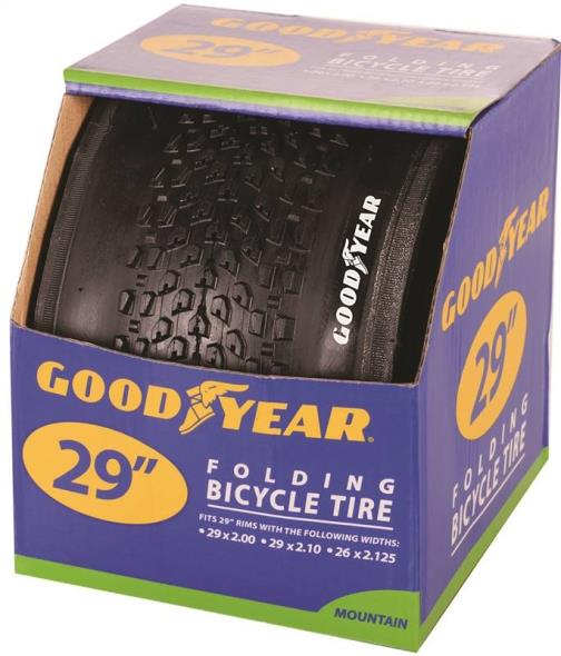 Goodyear 91065 Folding Road Tire, For Use With 29 in x 2 - 2-1/8 in Rim, Black