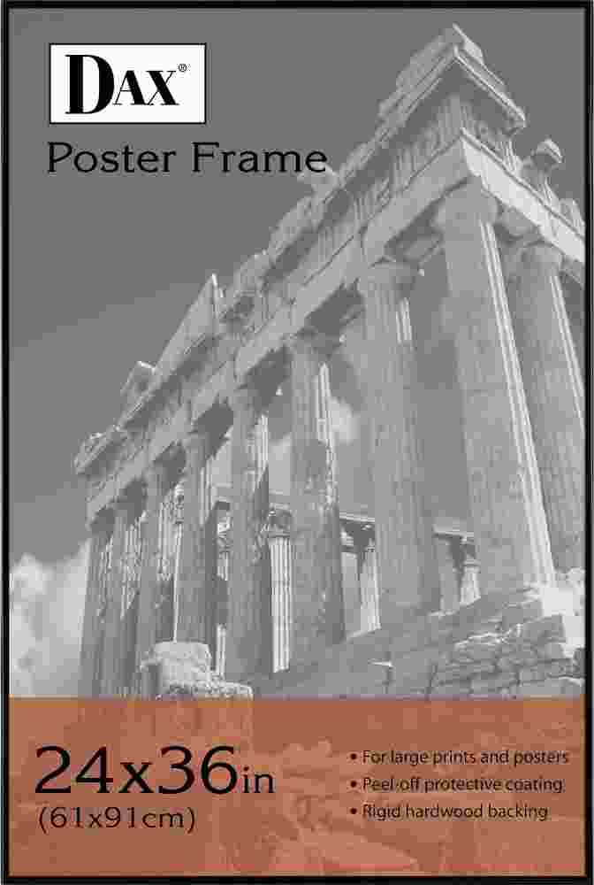 Coloredge Poster Frame, Clear Plastic Window, 24 x 36, Black