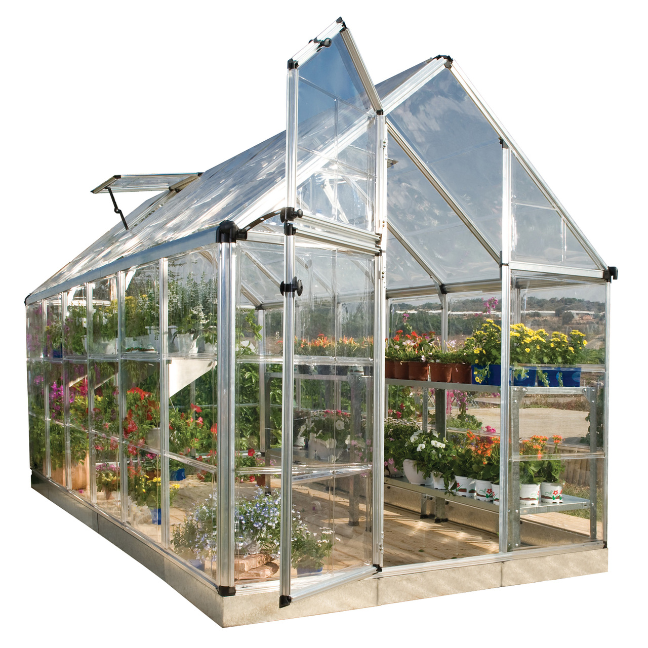 Palram Snap & Grow 6' x 12' Hobby Greenhouse, Silver