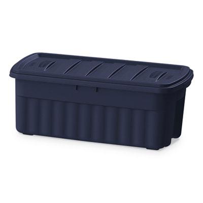 Roughneck Storage Box, 21 1/5w x 43d x 17 7/8h, Dark Indigo Metallic
