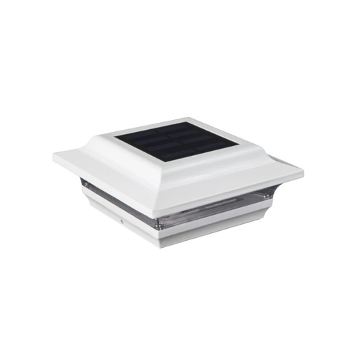 5x5 WHITE ALUMINUM IMPERIAL SOLAR POST CAP