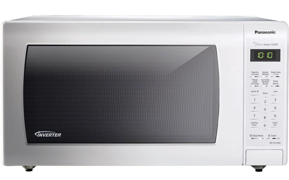 1.6 cu. ft., 1250w Countertop Microwave Oven with Inverter Technology™, White