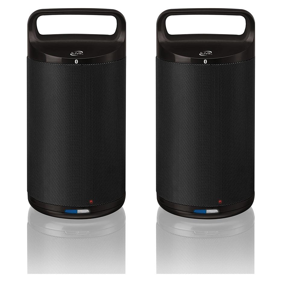 iLive ISBW2113B Indoor/Outdoor Dual Bluetooth Speakers (Pair)