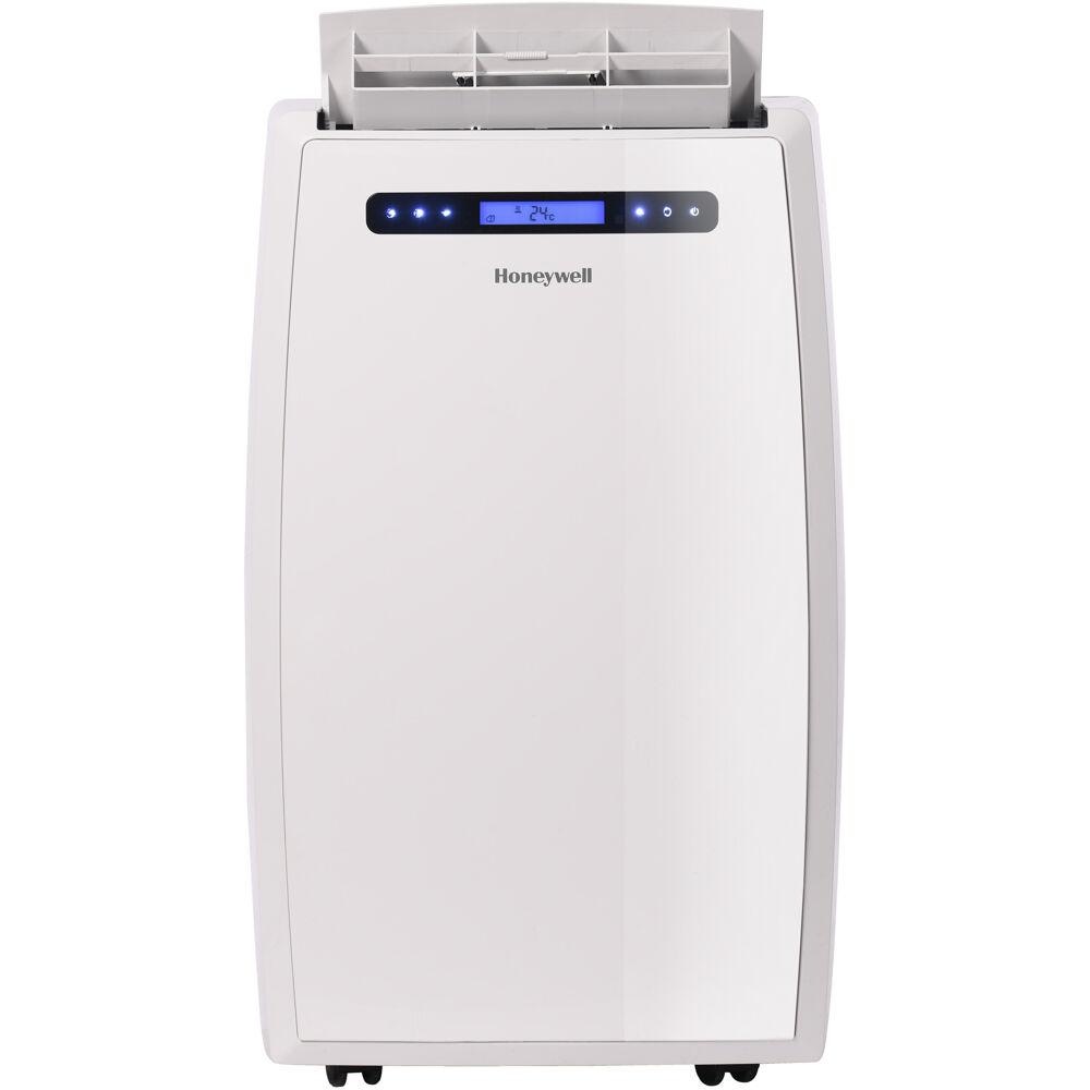 14,000 BTU Portable Air Conditioner with Dual Hose, White