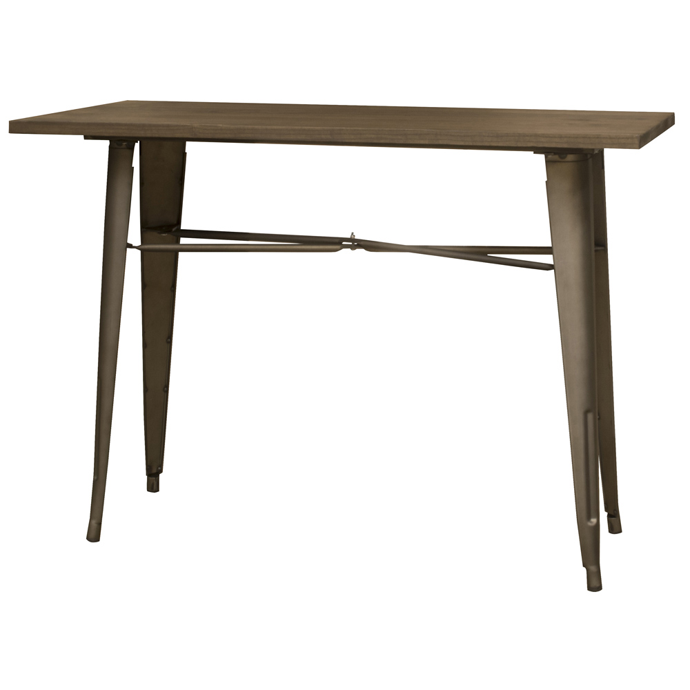 (Open Box) Loft Rustic Gunmetal Metal Counter Height Dining Table with Wood Top
