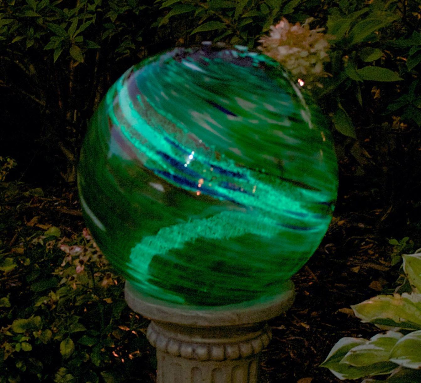 10 Inch Green Swirl Illuminaire Gazing Globe