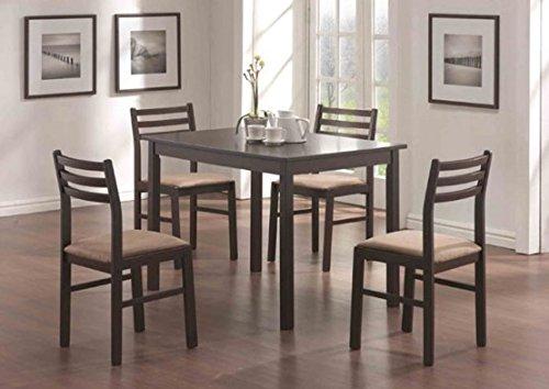 DINING SET - 5PCS SET / CAPPUCCINO VENEER