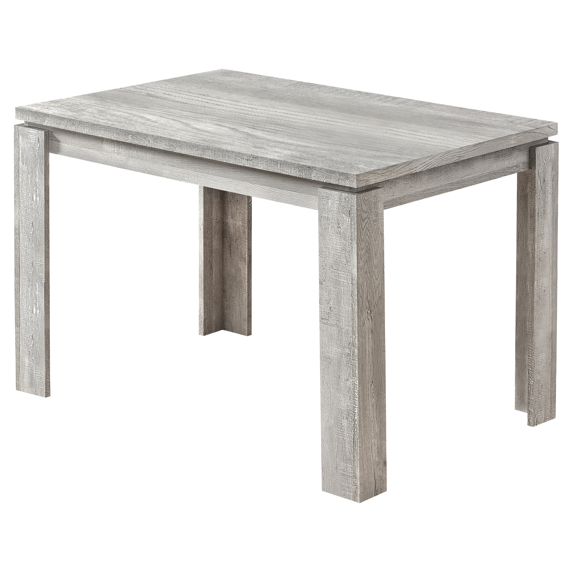 "DINING TABLE - 32""X 48"" / GREY RECLAIMED WOOD-LOOK"