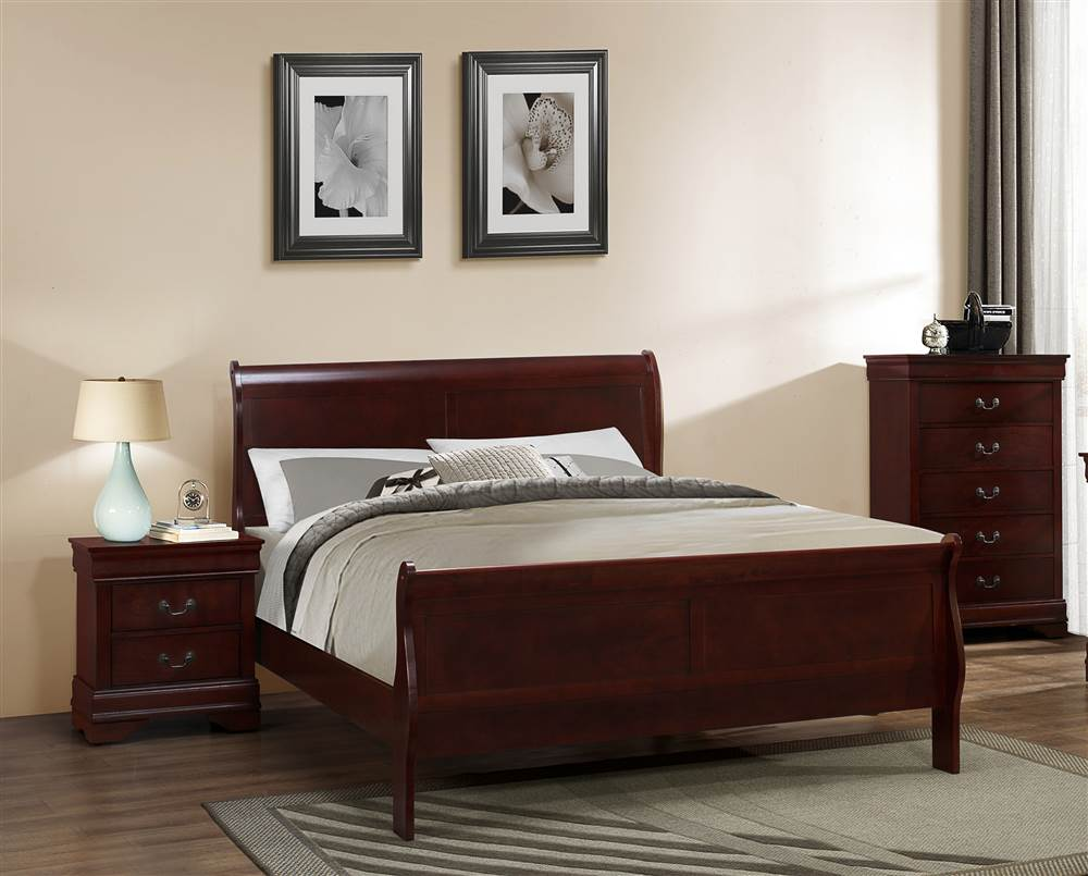 Louis Philippe Twin Bed in Cherry Finish