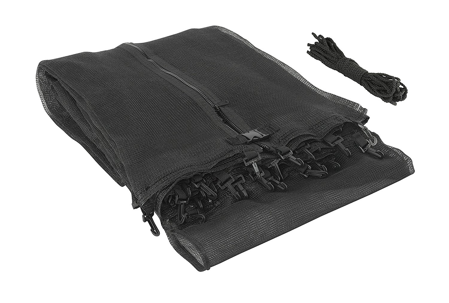Trampoline Replacement Enclosure Safety Net, Fits For 7 FT. Round Frames, Using 3 Arches, with Sleeves on top -NET ONLY