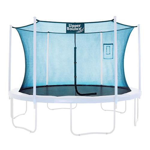 Upper Bounce Trampoline Safety Enclosure Replacement Net with Smartphone/Tablet Selfie & Livestream Pouch, Fits 15 FT Round Fram