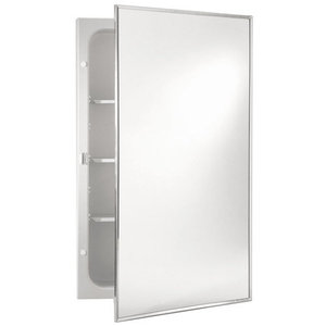 16 X 20 Glass Mirror Door MLD REC Cabinet