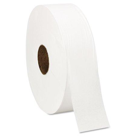 "Super Jumbo Roll One-Ply Bath Tissue, 12"" dia, 4000ft, 6 Rolls/Carton"