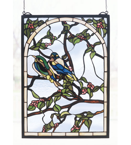 14 Inch W X 20 Inch H Lovebirds Window