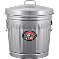 (Open Box)CAN TRASH-UTILITY STEEL 10 GAL