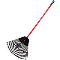 RAKE LEAF COM POLY 30IN FIBERGLASS HANDLE