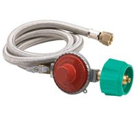(Open Box)Stainless 10Psi Hose & Regulator