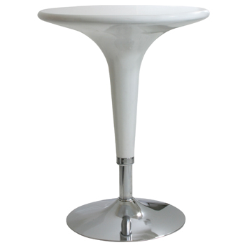 AmeriHome Glossy White Adjustable Height Bar Table