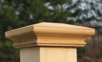 (Open Box)Wood Post Cap - 4x4 MITERLESS Trim Cap