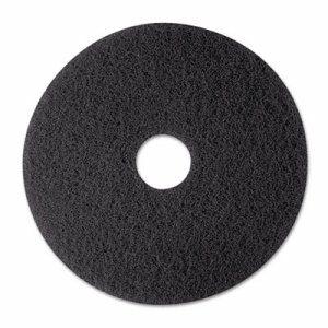 "Low-Speed Stripper Floor Pad 7200, 12"" Diameter, Black, 5/Carton"