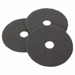 "Low-Speed Stripper Floor Pad 7200, 17"" Diameter, Black, 5/Carton"
