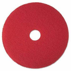"Low-Speed Buffer Floor Pads 5100, 13"" Diameter, Red, 5/Carton"