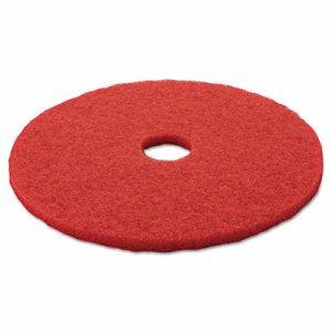 "Low-Speed Buffer Floor Pads 5100, 20"" Diameter, Red, 5/Carton"