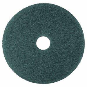 """Cleaner Floor Pad 5300, 17"""" Diameter, Blue, 5/Carton"""