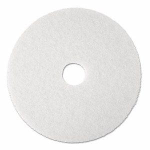 """Super Polish Floor Pad 4100, 20"""" Diameter, White, 5/Carton"""