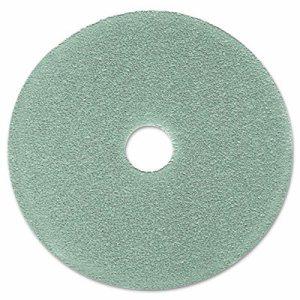 "Burnish Floor Pad 3100, 19"" Diameter, Aqua, 5/Carton"